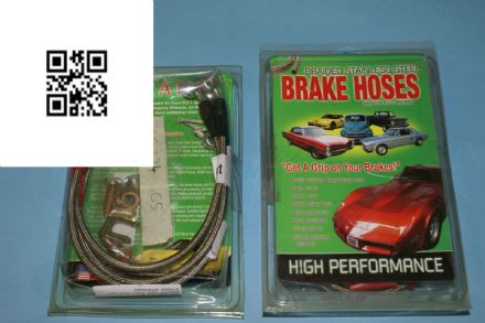 1997-2004 Corvette C5 hose set  braided brake all four ls124 97 04 sbh9704